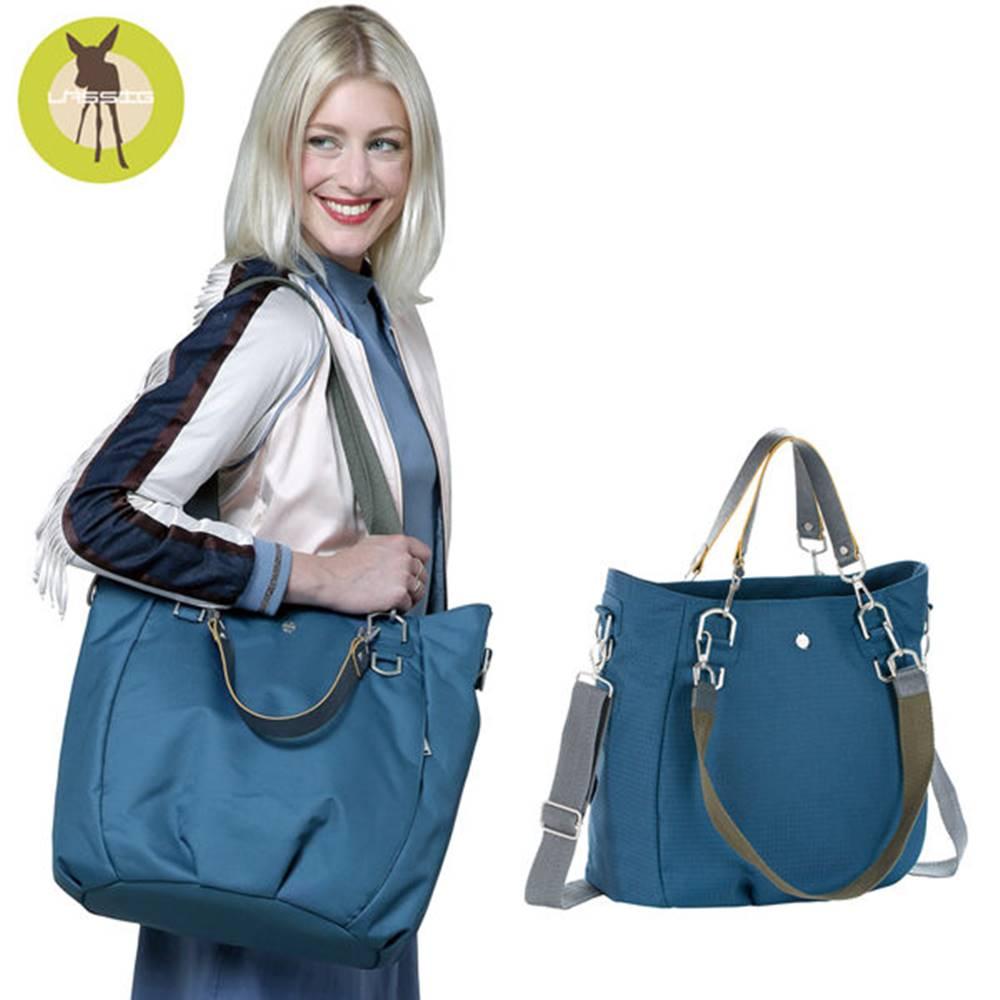 德國Lassig-都會時尚大托特媽媽包-金石藍