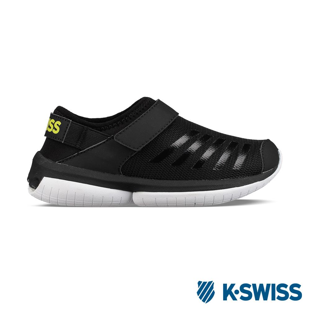 K-Swiss Tubes Aqua VLC休閒運動鞋-童-黑/綠/白