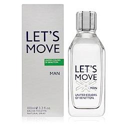 Benetton班尼頓 Let's Move動感男性淡香水100ml