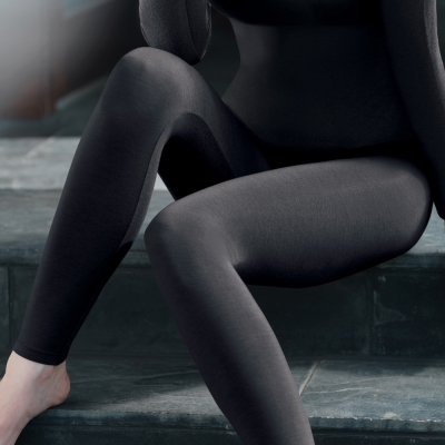 黛安芬-EKSHYPER科技發熱經典版系列M-EL九分褲內搭褲(質感黑)