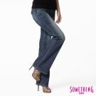 SOMETHING STORYⅡ魔束纖腰伸縮大喇叭牛仔褲--女款-拔淺藍