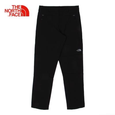The North Face北面男款黑色防潑水運動緊身褲
