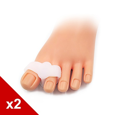 糊塗鞋匠 優質鞋材 J14 柔軟拇指固定套 軟矽膠 2雙
