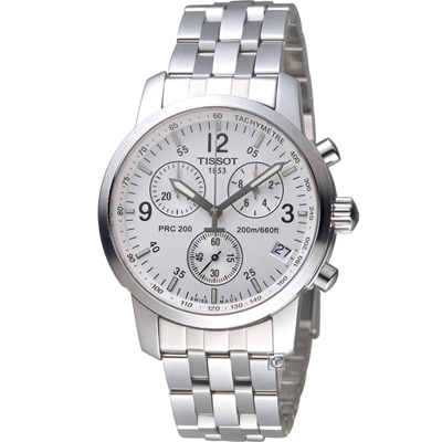TISSOT PRC-200系列 男用計時功能腕錶(T17158632)41mm