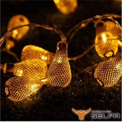 韓國SELPA 繽紛飾品-鐵藝造型LED燈串 20燈組