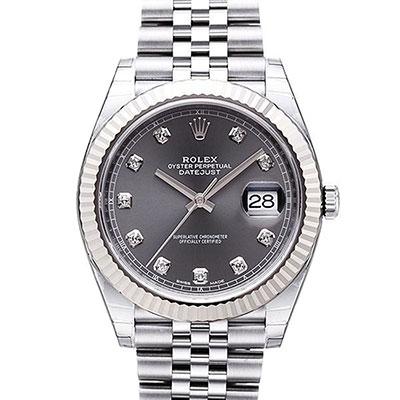 ROLEX 勞力士 Datejust 126334 日誌型機械腕錶x灰面鑽x41mm