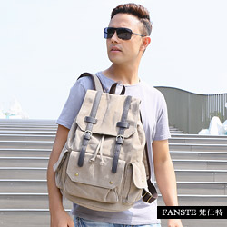Fanste_梵仕特 帆布遊風 多功能後背包-8073