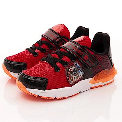 TOBOT童鞋-機器戰士電燈運動款-SE6352紅黑(中小童段)