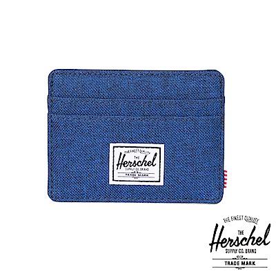 Herschel Charlie Wallet 卡夾-藍色十字織布