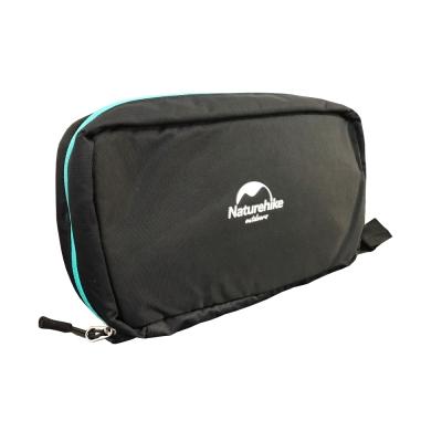 PUSH! 旅遊用品防水防撕裂盥洗用具包便攜出差洗簌牙刷包S41-2斜紋黑色