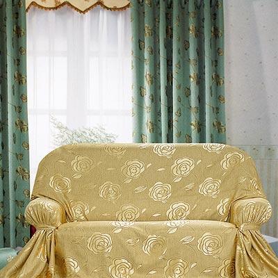 《布安於室》富貴花DIY3人座沙發罩-暗金