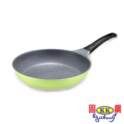 固鋼蘋果綠鈦石不沾牛排鍋28cm
