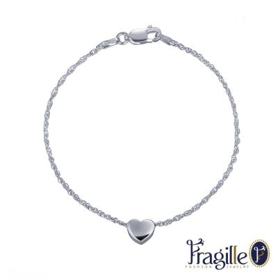 彩糖鑽工坊 甜蜜愛心銀手鍊 Fragille系列