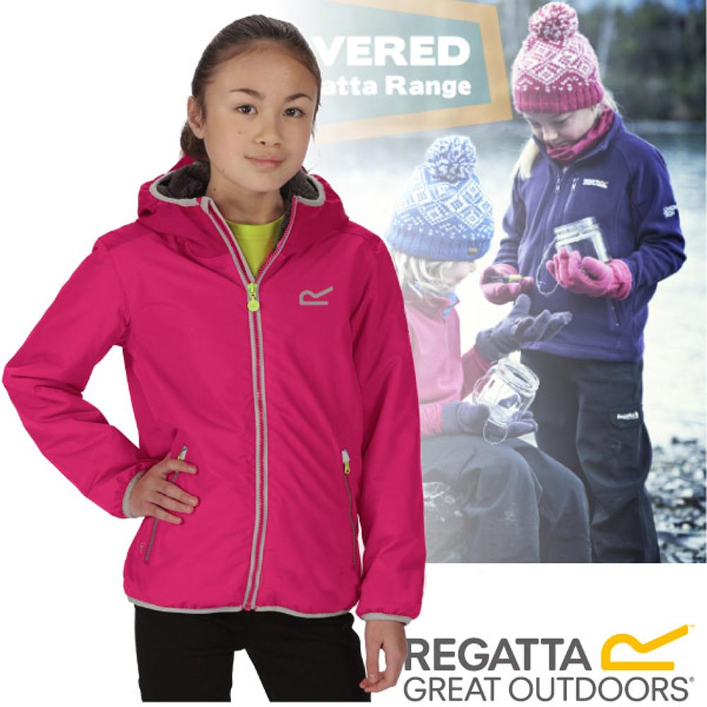 【REGATTA】兒童 佛坎尼 超反光輕量彈性內刷毛防水透氣外套/紅
