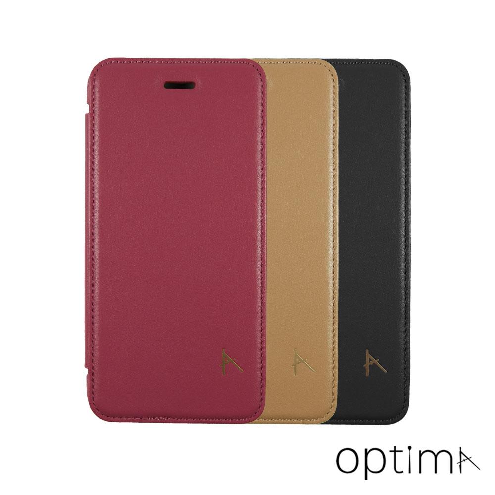 Optima iPhone 8/7 Plus 側掀站立型皮套 真皮系列