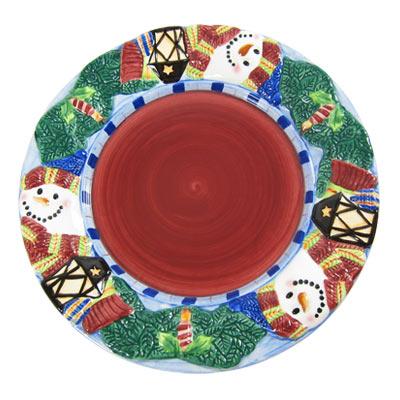 歡樂聖誕彩繪瓷盤3入組