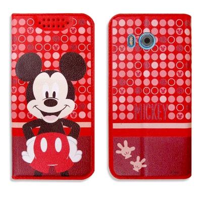 迪士尼正版授權 HTC U11 普普風彩繪手機皮套(米奇)