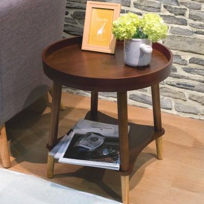 漢妮Hampton泰德圓桌-胡桃木色47x47x50cm