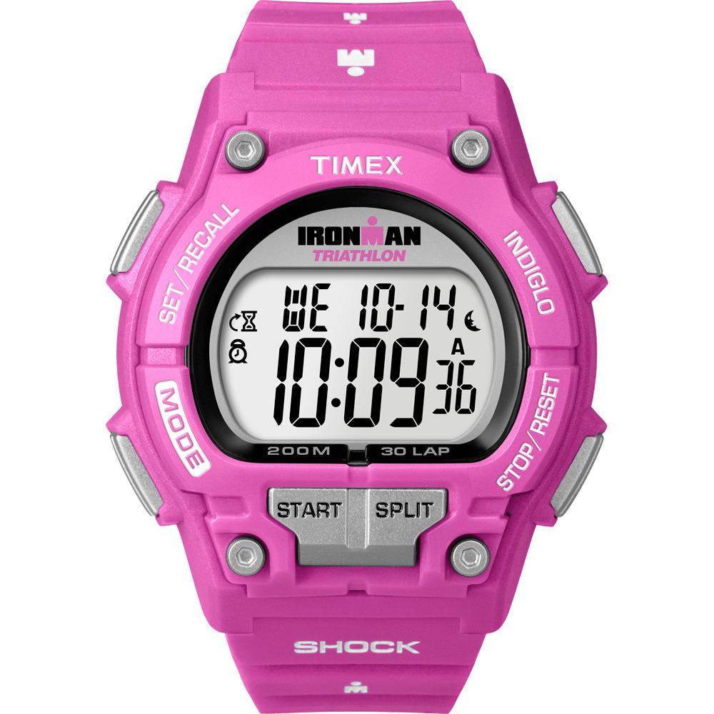 Timex Ironman Bright 夏日亮彩運動腕錶-限量桃紅/43mm