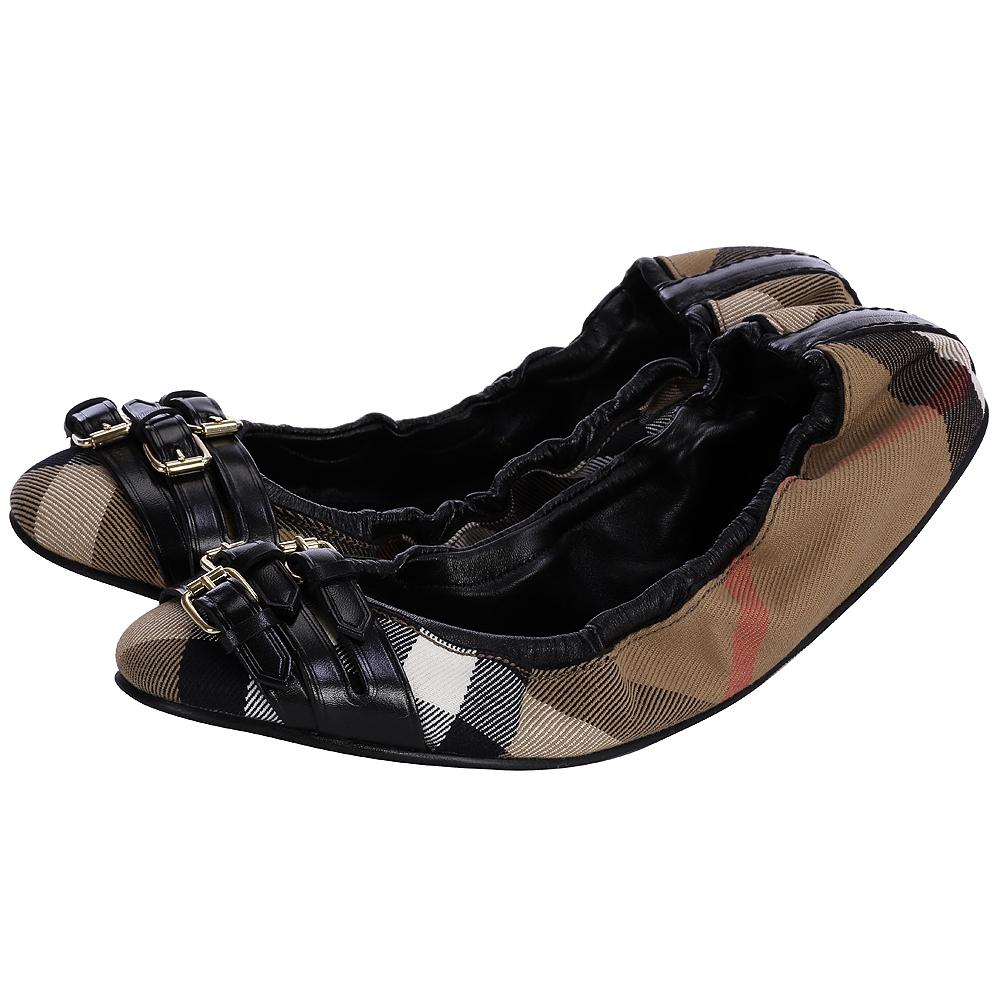 BURBERRY 經典格紋芭蕾舞鞋(黑色)