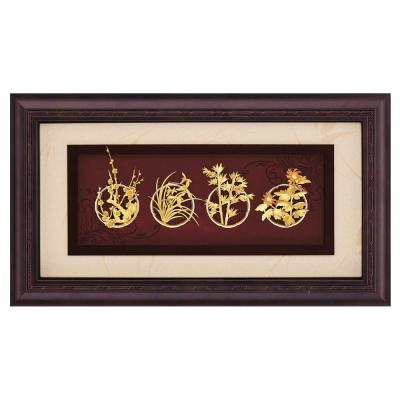 My Gifts-禮品金箔畫-四君子(框畫系列39x69cm)