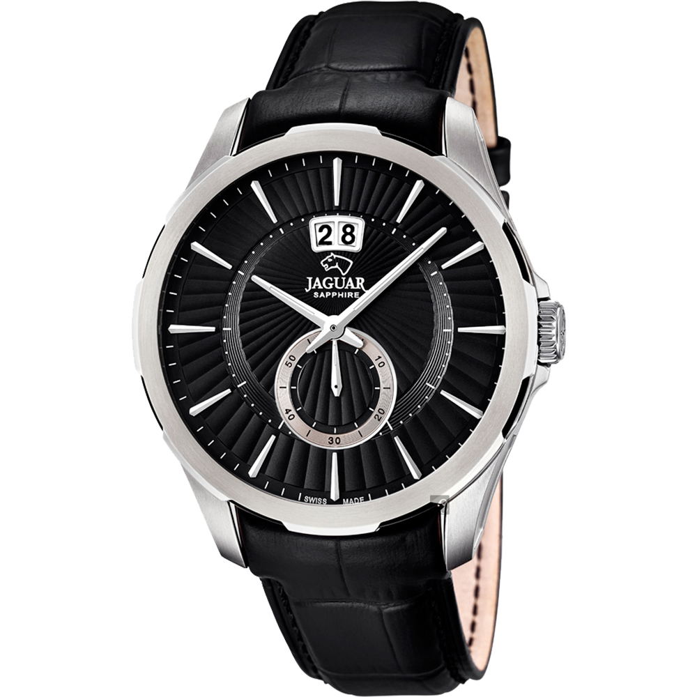 JAGUAR ACAMAR 雅仕小秒針手錶-黑/44mm