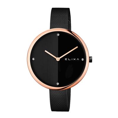 ELIXA Beauty時尚雙色錶盤米蘭帶系列 時尚黑40mm