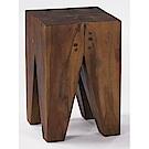 H&D 柚木牙心椅凳 (寬29X深29X高45cm)
