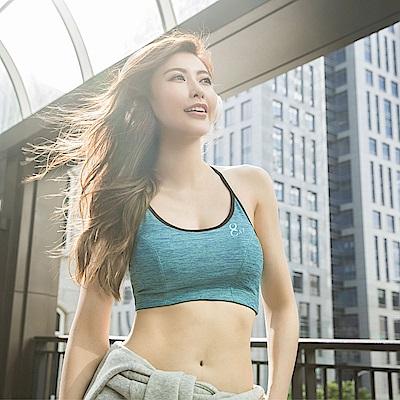 8:AT  運動內衣  M-XL(沁綠藍)
