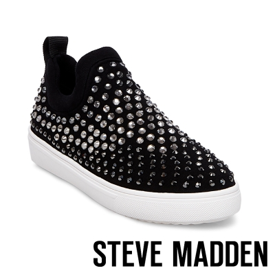 STEVE MADDEN-SHERRY 混色水鑽布面休閒懶人鞋-黑色