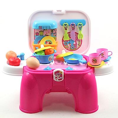 創意廚具收納椅 (可當座椅、辦家家酒遊戲)