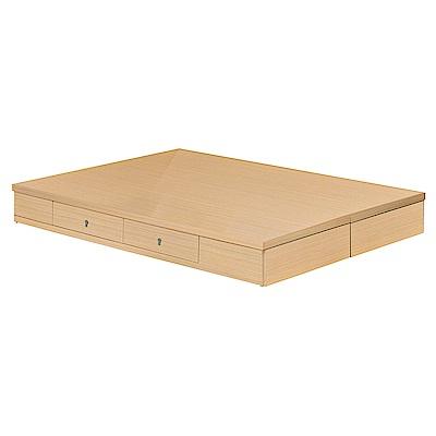 H&D 橡木5尺抽屜床底 (寬152X深188X高24cm)