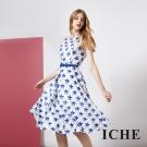 ICHE 衣哲 時尚設計款星星印花禮服洋裝