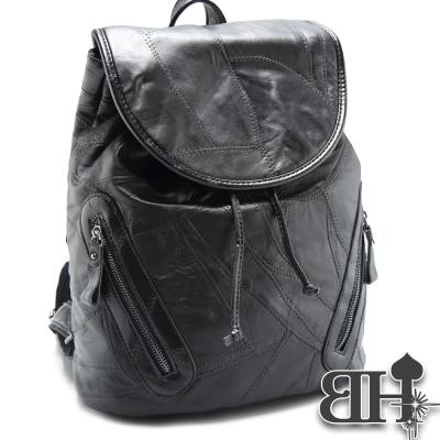 Bag-HoriC-後背包-真皮幕府時代羊皮拼接掀