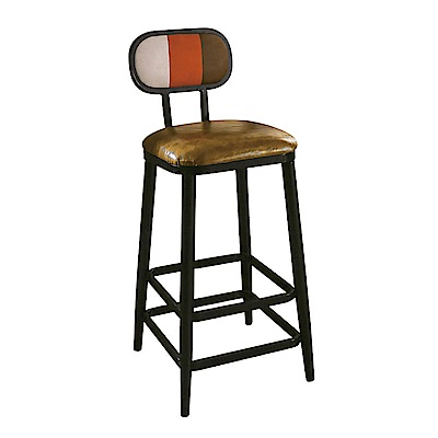 AT HOME-工業風設計三色條紋高腳吧台椅(40*48*103cm)