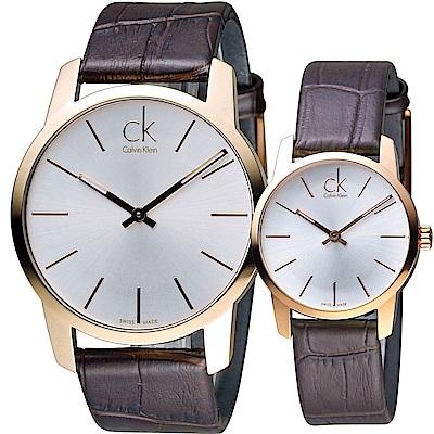 Calvin Klein 純粹愛戀時尚對錶( K2G21629 K2G23620)咖啡