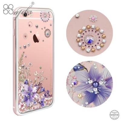 apbs iPhone6s / 6 4.7吋 施華洛世奇彩鑽金屬框手機殼-玫瑰金...