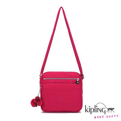 Kipling-斜背包-亮彩桃紅素面