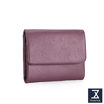 74盎司 翻蓋設計小羊皮短夾[LN-701]紫
