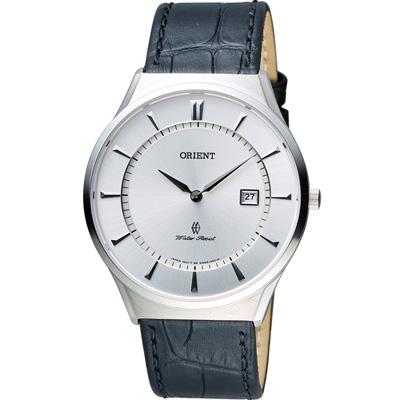 ORIENT 東方錶 SLIM系列 超薄時尚簡約時尚錶-白/39mm