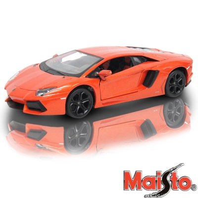 Lamborghini Aventadpr LP700-4 1:24 合金模型車 (橘)