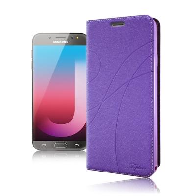 Topbao Samsung Galaxy J7 Pro 典藏星光隱扣側翻皮套