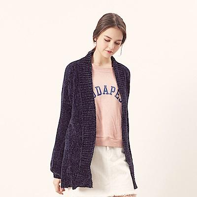 CACO-柔絨針織澎袖罩衫(三色)-女【NCH201】
