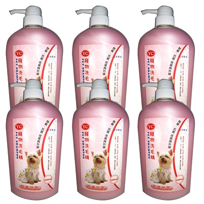YC 寵物洗毛精1000ml 6瓶 驅蟲抗菌-成、幼、犬、貓適用