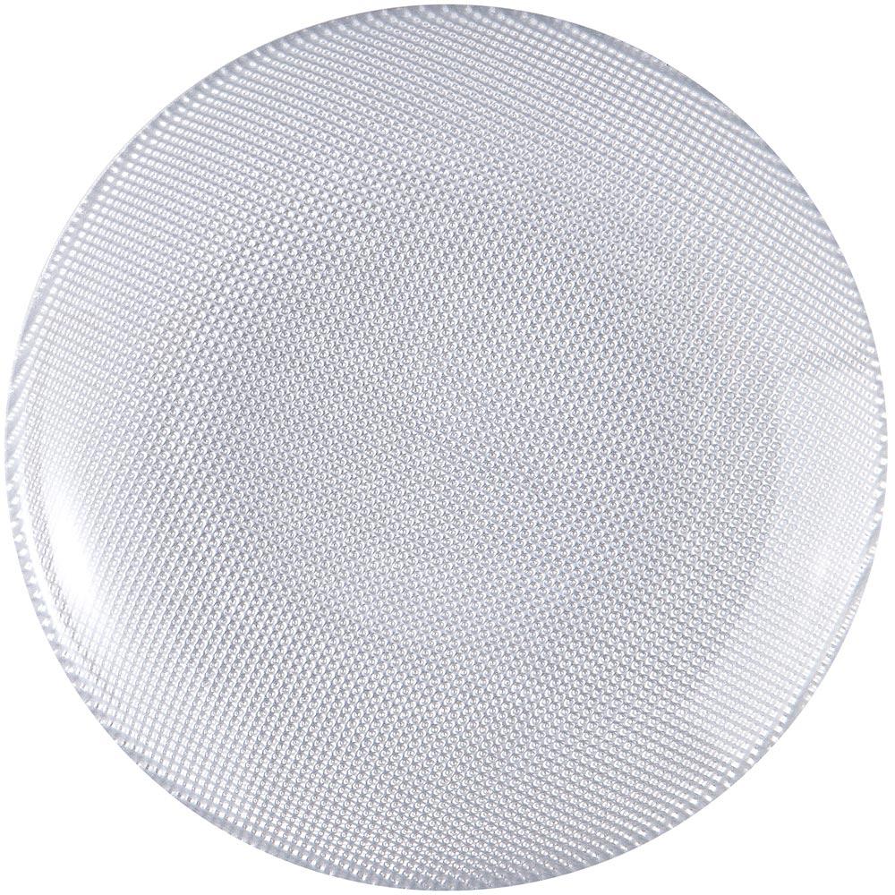 EXCELSA Diamond菱紋玻璃淺餐盤(銀20cm)