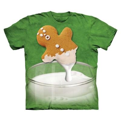 摩達客 美國進口The Mountain 牛奶薑餅人 純棉環保短袖T恤