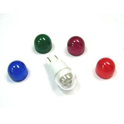 超酷炫五彩T10子彈型LED汽車專用燈