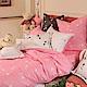 義大利Fancy Belle 音符戀曲-粉 雙人純棉床包枕套組 product thumbnail 1