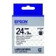 EPSON C53S656406 LK-6TBN透明系列透明底黑字標籤帶(寬度24mm) product thumbnail 1