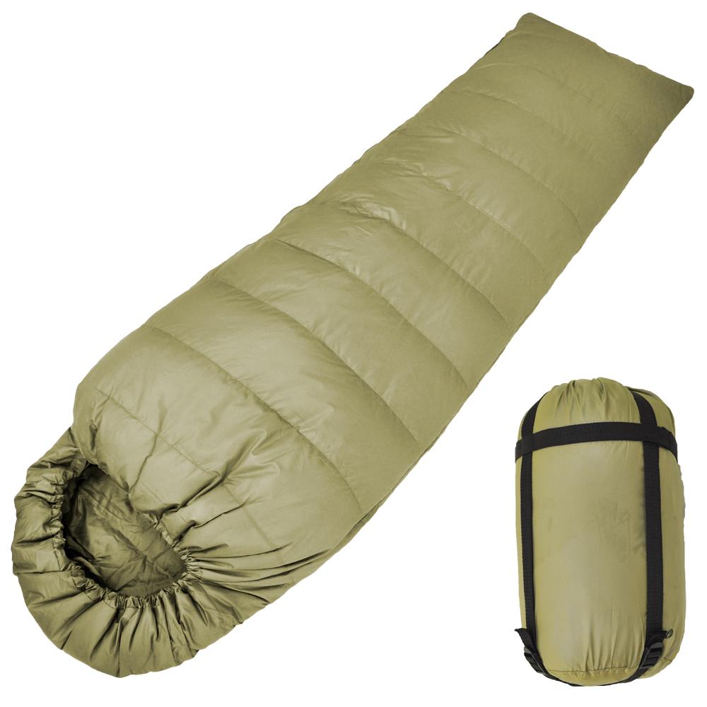 保暖輕量型100%天然水鳥羽絨睡袋 登山露營睡袋